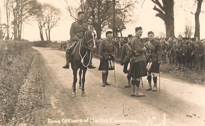 6e bataillon des Queen's Own Cameron Highlanders en 1915, lors de la bataille de Loos en France