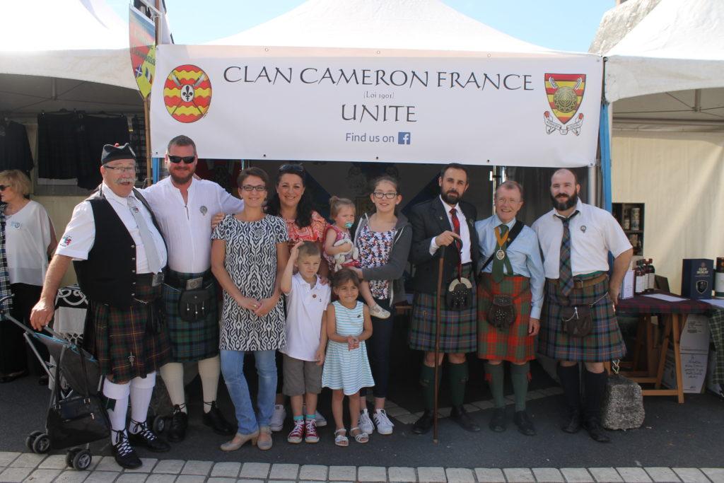 Membres du Clan Cameron France aux Fêtes d'Aubigny