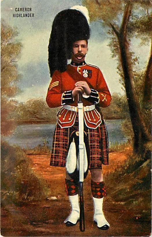 Sergent des Queen's Own Cameron Highlanders, date inconnue