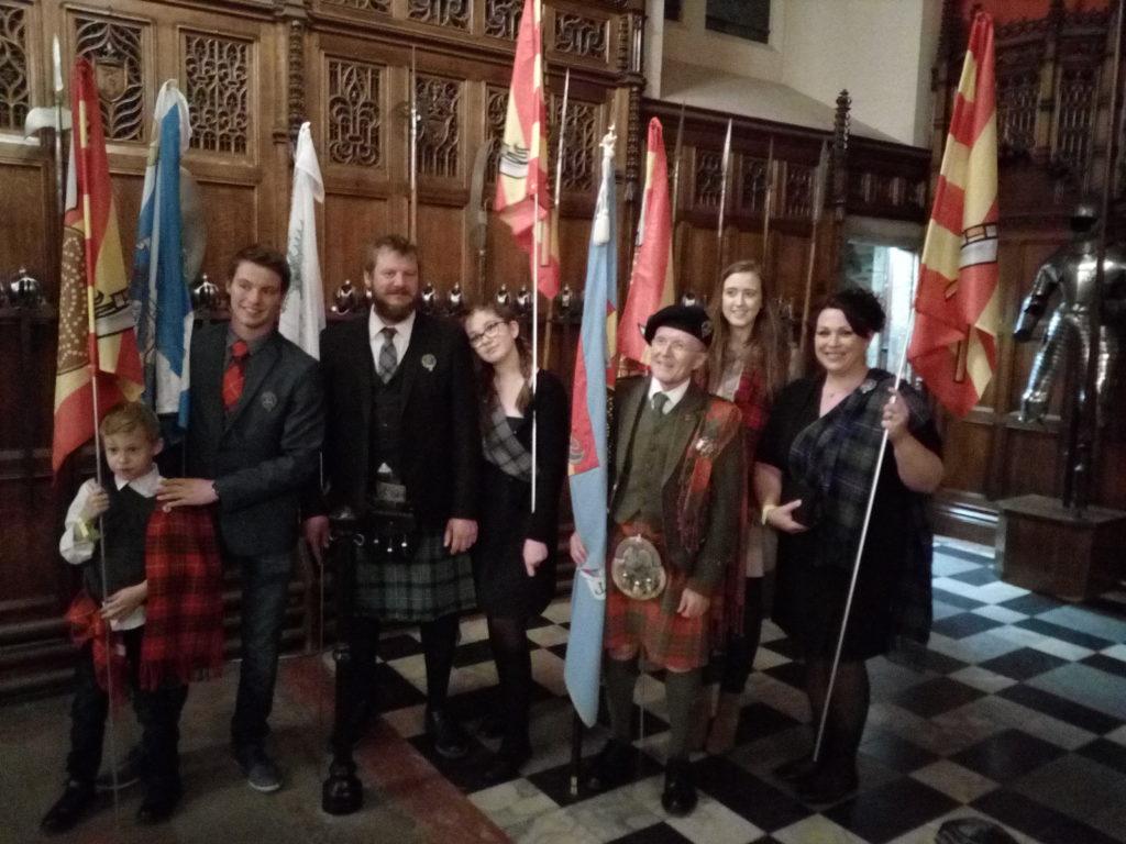 Dans le Grand Hall du Château d'Edinburgh